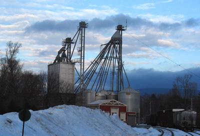 Grain storage towers, North Bennington, VT.
