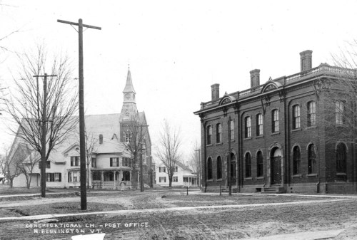 Bank and Congregational Church, c1910.