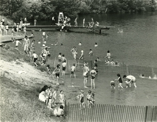 Beach scene, about 1970.
