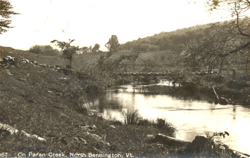Bridge over Paran Creek above lake, about 1920.