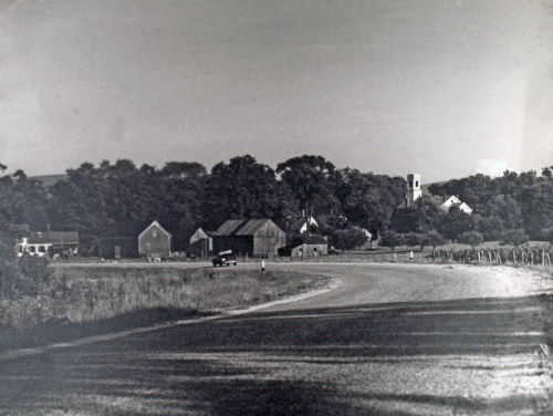 Colvin property on Route 67 west of village, c1950.