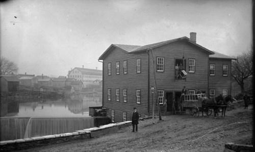 Prospect Street, North Bennington, with Cushman warehouse.