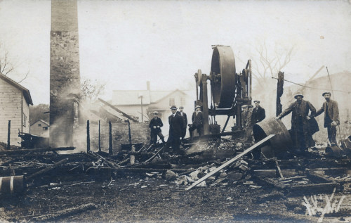 EZ Mill fire, Sage Street, 1913.