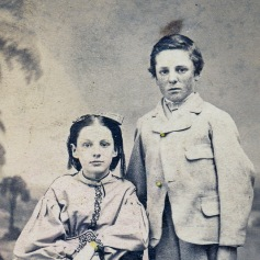 Hattie and Edward Welling, 1865.