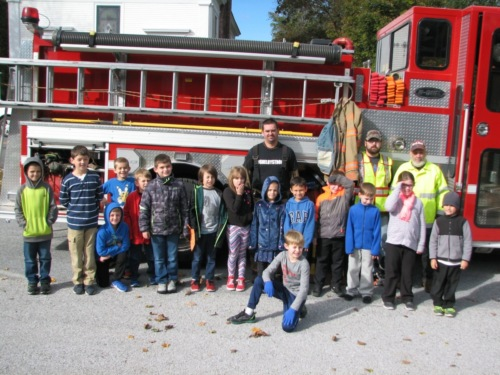 Fire safety visit.