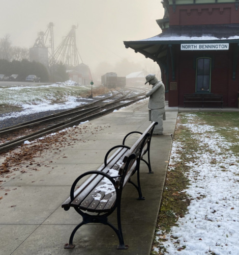 Foggy morning at the station.
