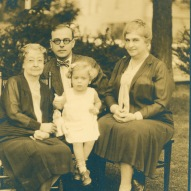 Four generations of Wellings circa 1929. Mary Welling Jones the youngest lives in the family house today.
