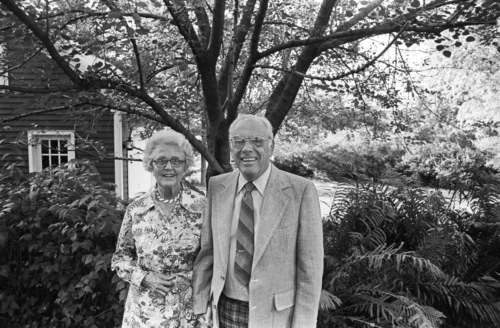 Priscilla and Fred Welling, 50th anniversary, 1976.