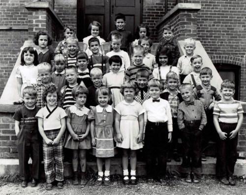 Kindergarten, about 1955.