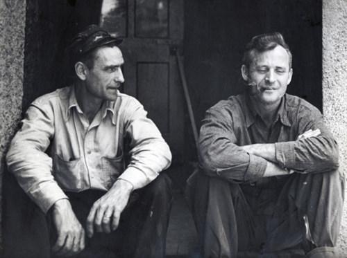 Ed Major and Cliff Turner on break