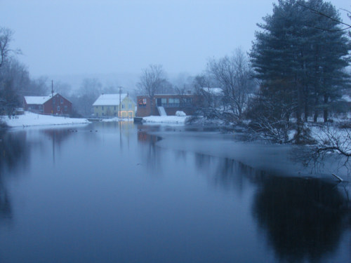 Mill Pond, December twilight.