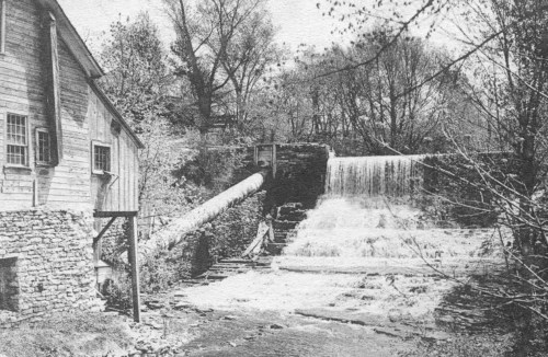 Mill by Prospect Street bridge, about 1920.
