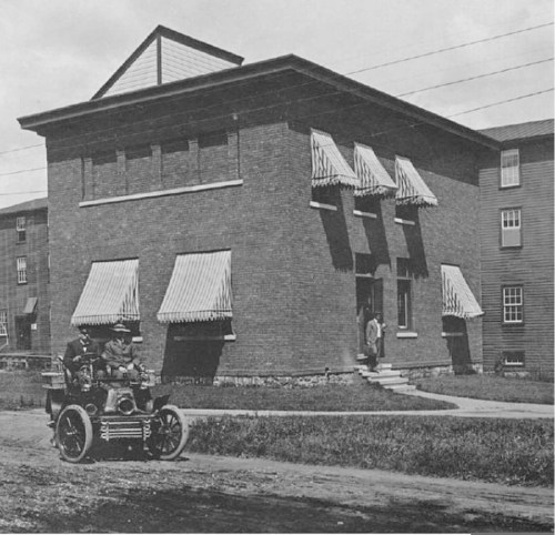 Mr. and Mrs. White leaving factory about 1905