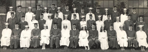 Last graduating class NBHS, 1966.