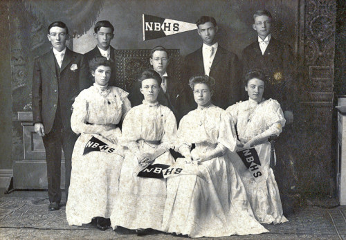 Graduating class, about 1910.
