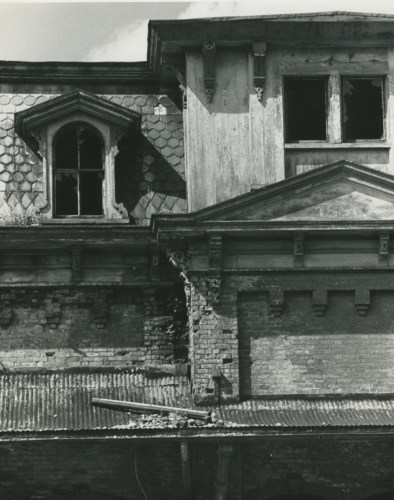 Railway Station facade, c1970.