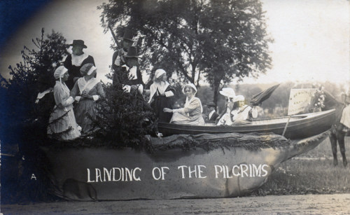 Parade Pilgrim float, c1910.