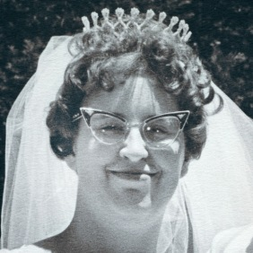 Pat O Donnell at her wedding.