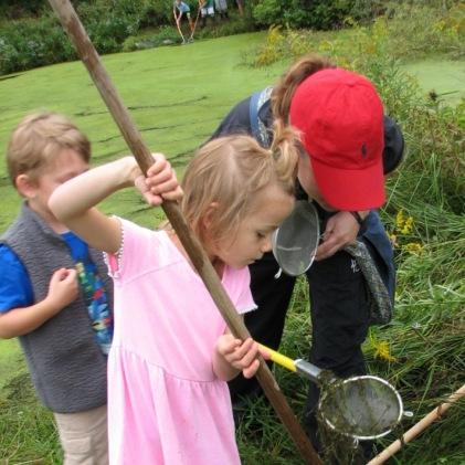 Pond exploration.