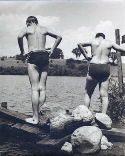 Swimmer 1940s.