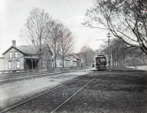 Trolley heading to Hoosick Sodom, c1900.