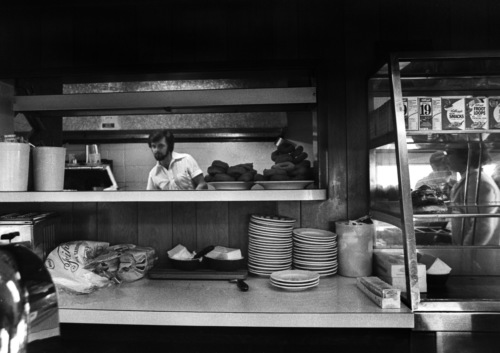Sonny Monroe at work in the Blue Benn diner.