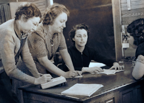 Office staff, 1940.