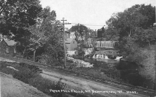 Stark Paper Company and falls circa 1915.
