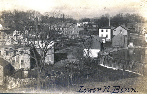 Stark Paper company and west side of village, about 1900.