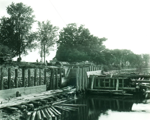 State Line Dam, about 1900.