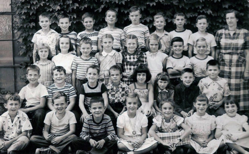 Third grade 1951, with Miss Holden,