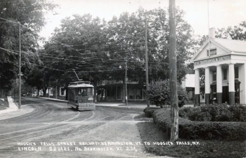 Trolley in Lincoln Square circa 1920