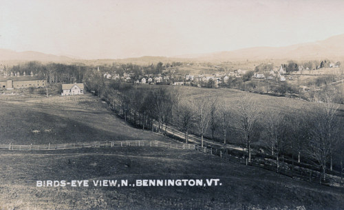 Village from above Park Street in late fall, c1915.
