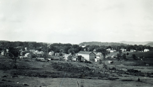 Village from above Welling Field, 1904.