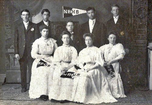 North Bennington HIgh School graduating class circa 1910
