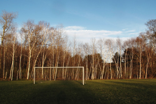 Soccer net, Welling Field in April
